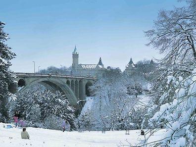 Luxemburg wird an diesem Wochenende in eine weiße Decke gehüllt sein.