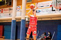 Gaetan Bernimont (Racing 6) / Basketball, Total League Maenner, Arantia - Racing / 24.03.2021 / Larochette / Foto: Christian Kemp