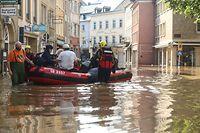 Lokales,Hocvhwasser,Überschwemmung Echternach.Foto: Gerry Huberty/Luxemburger Wort