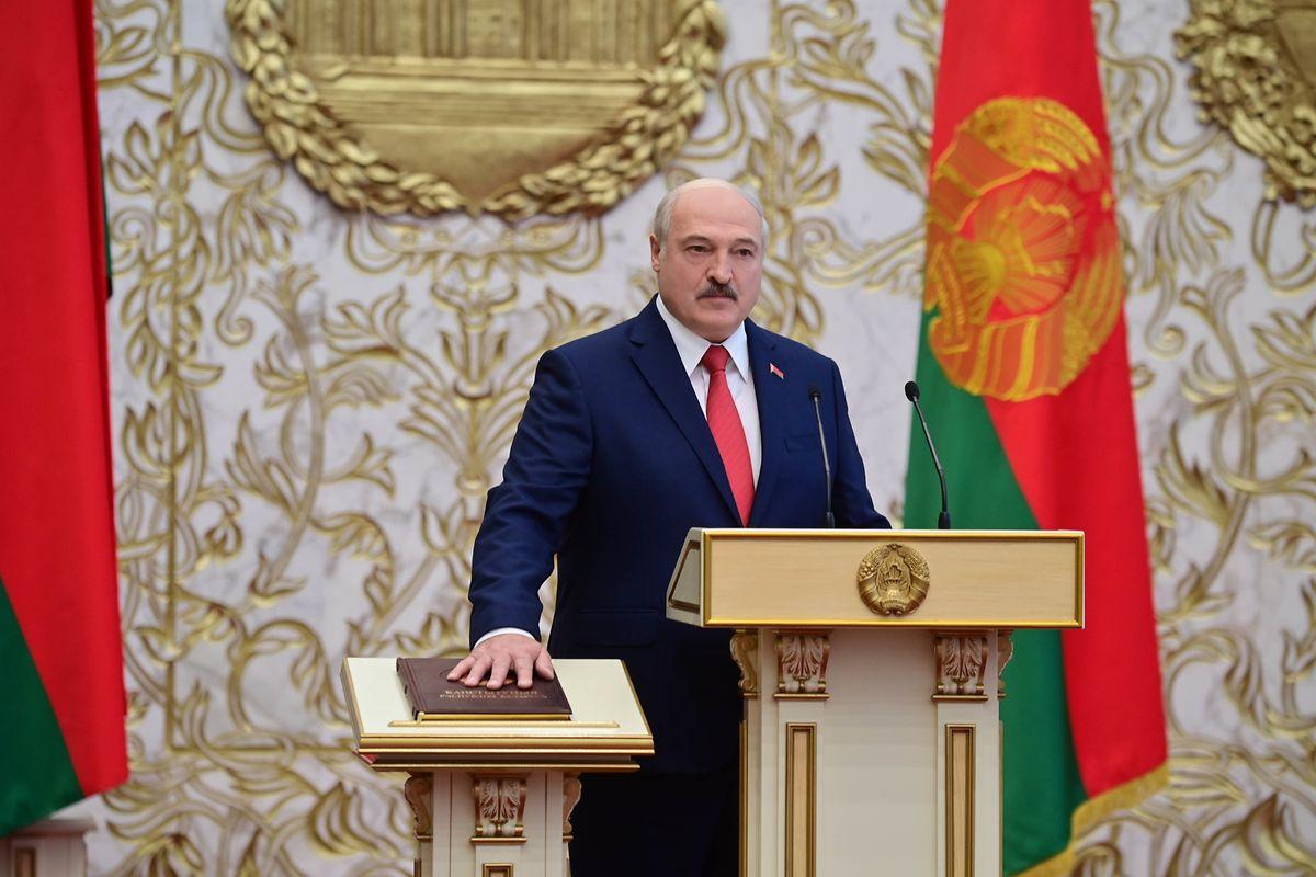 Der weißrussische Präsident Alexander Lukaschenko bei seiner Amtseinführung Ende September.