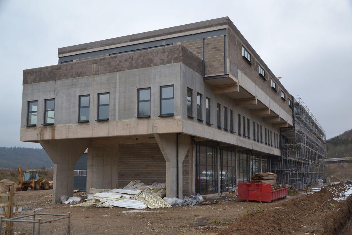 Des bureaux, des magasins et un restaurant emménageront également dans le nouveau bâtiment à Lorentzweiler.
