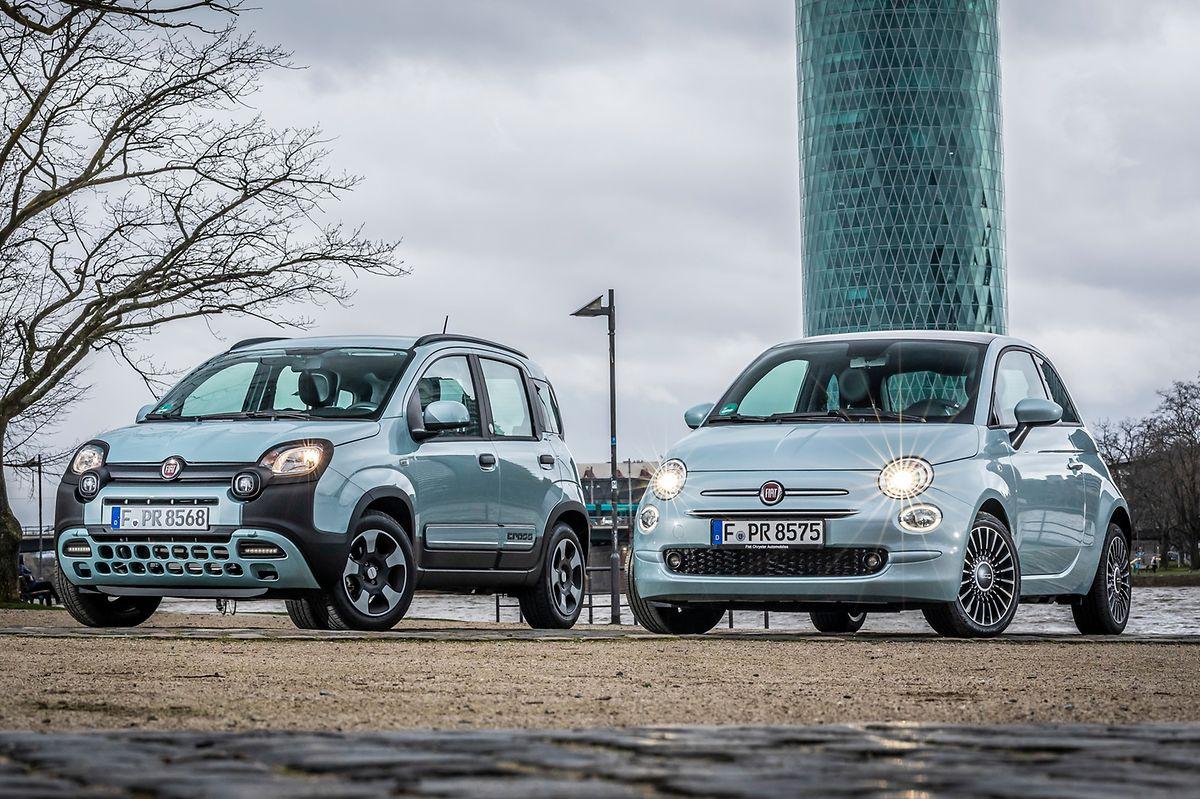 Bei Mildhybriden wie Fiat Panda und 500 unterstützt der zusätzliche E-Motor an Bord in erster Linie den Verbrenner.