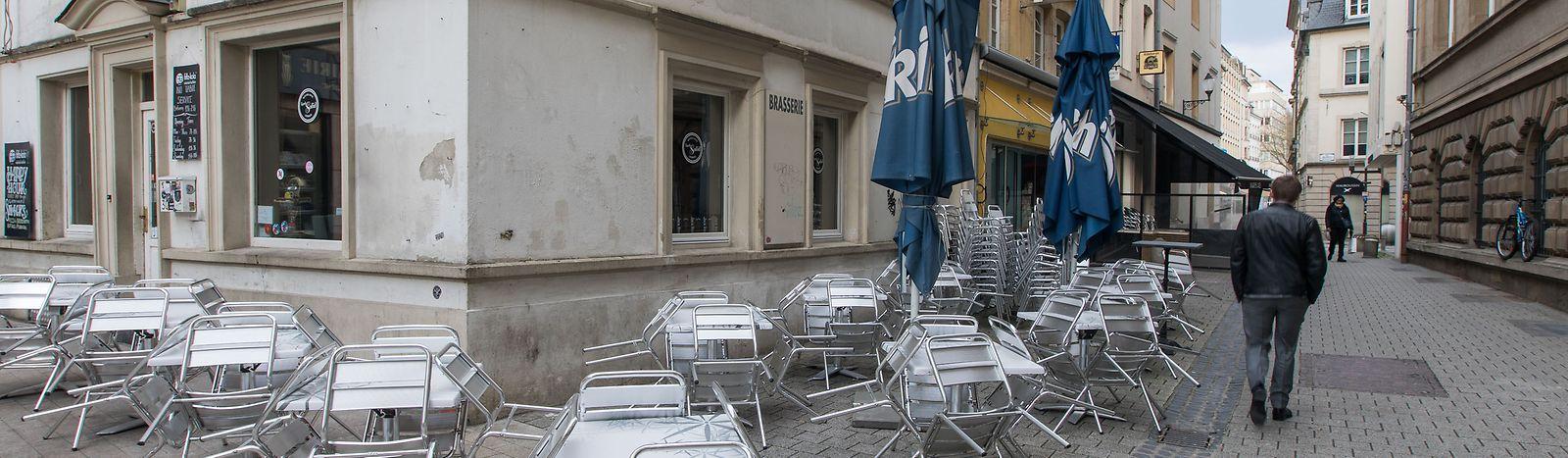Geschäfte und Restaurants in Luxemburg-Stadt sind wegen der Corona-Krise geschlossen.