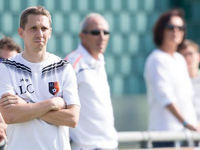 Coach Charel Leweck (Erpeldange) / Division 1 Serie 1 FC 72 Erpeldange - Blo Weiss Medernach / 28.08.2016 / Erpeldange / Terrain 1 / Luxembourg / Photo Julien Ramos / Imagify