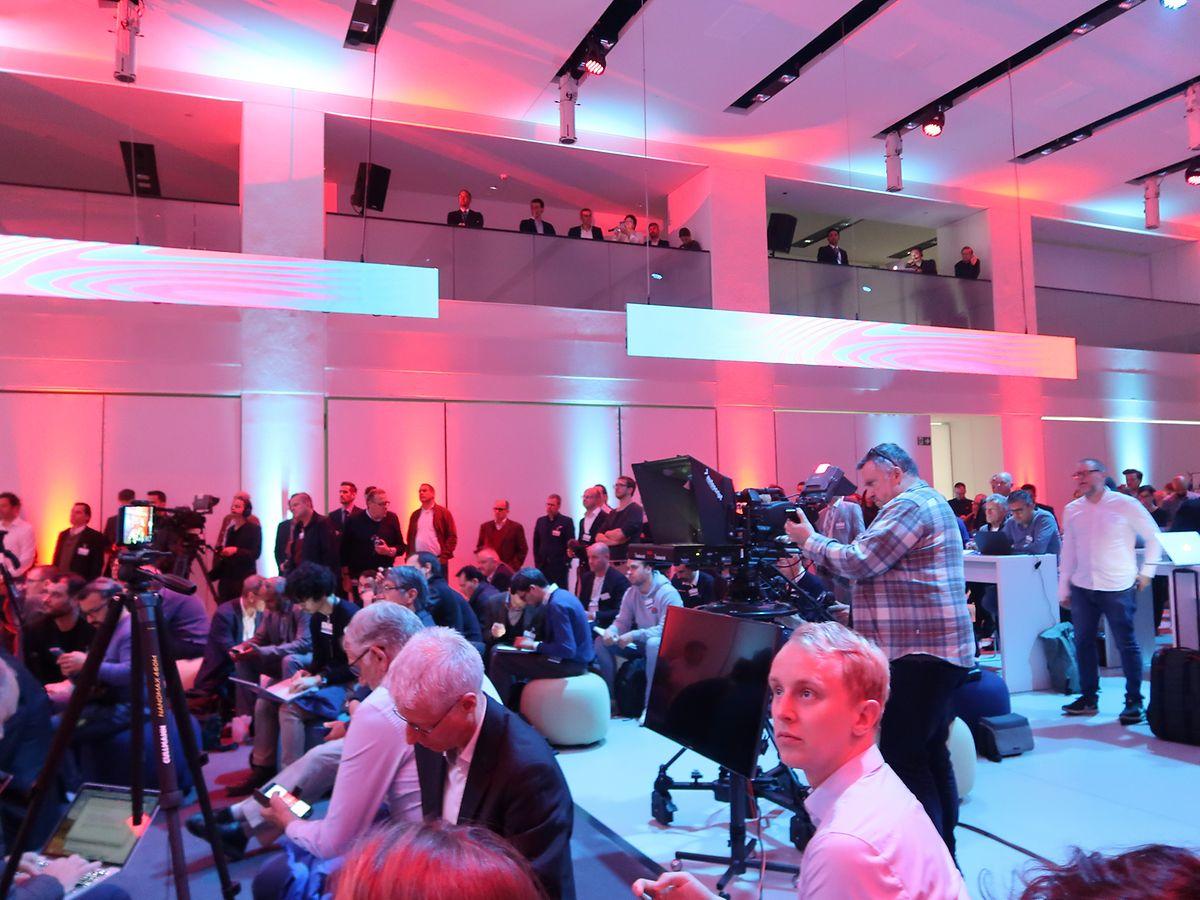 Rund 100 Pressevertreter aus der ganzen Welt verfolgten die Präsentation.