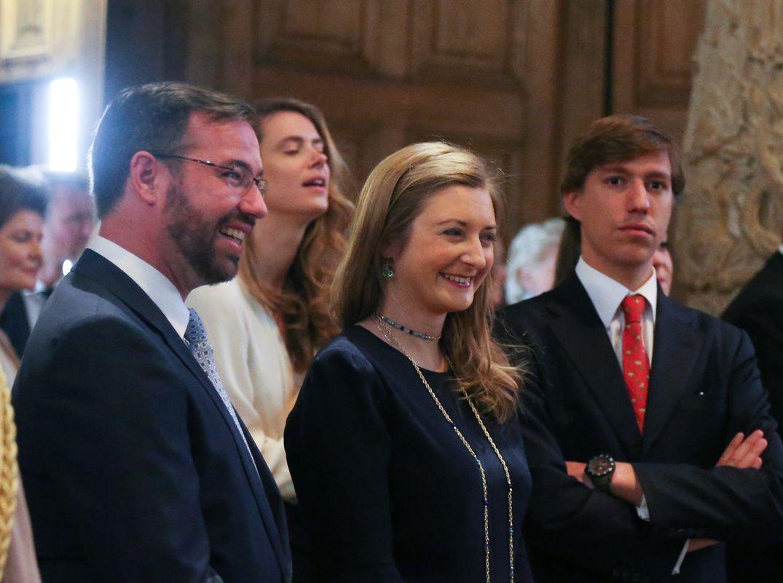 Erbgroßherzog Guillaume, Erbgroßherzogin Stéphanie und Prinz Louis.