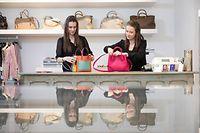 Télécran, First and Second Hand Concept Store. Nora Winandy und Linda, Belair, Foto: Guy Wolff/ Télécran