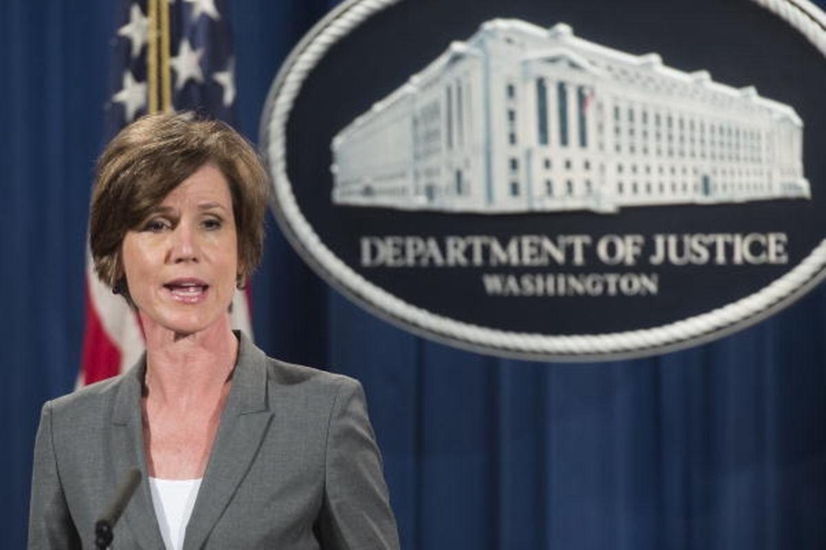 Weil sie eine andere Auffassung vertrat, musste die Justizministerin Sally Yates gehen.