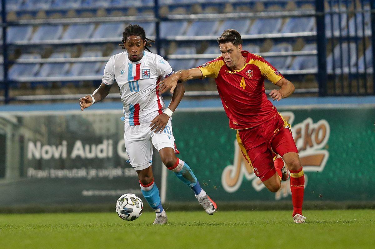 Gerson Rodrigues (à g., au duel avec Nikola Vukcevic) est resté muet mardi soir à Podgorica