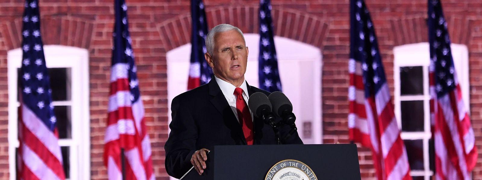 US-Vizepräsident Mike Pence spricht am dritten Tag des republikanischen Parteitages.