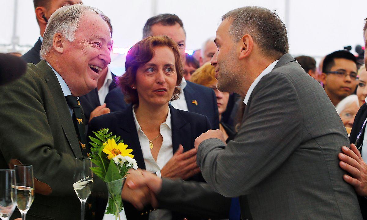 Die AfD-Spitze: Alexander Gauland, Beatrix von Storch und Leif-Erik Holm.