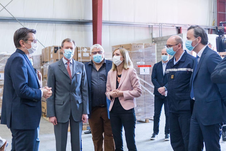 Besuch von Großherzog Henri und Ministerin Taina Bofferding im Lager der CGDIS.