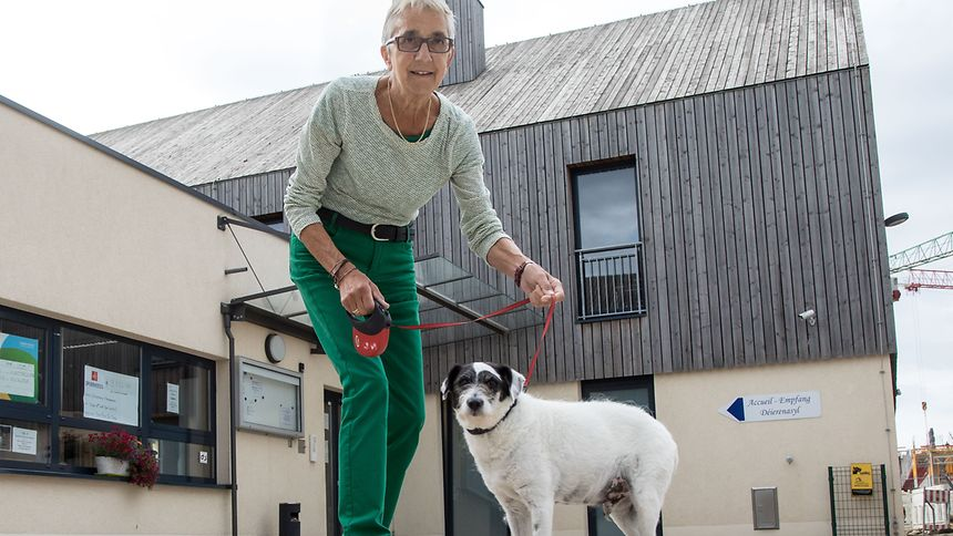 Liliane Ferron mag alle Tiere, Hunde aber etwas mehr als Katzen.