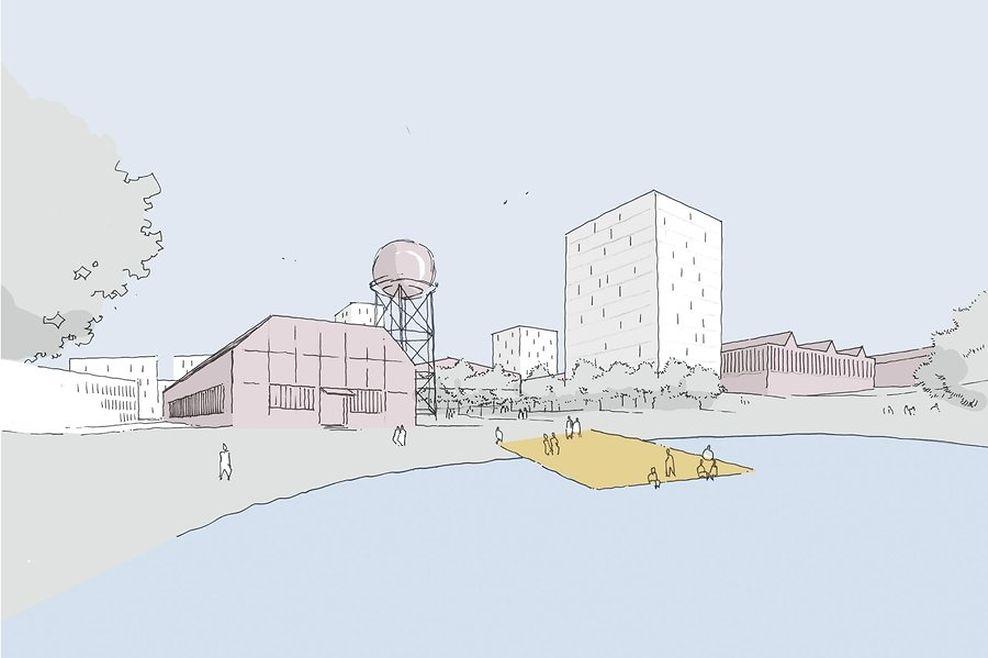 Une des approches urbanistique pour le site à venir