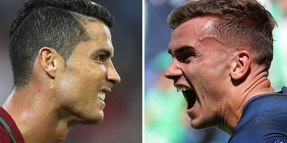 Cristiano Ronaldo et Antoine Griezmann. Le Portugais a remporté la Ligue des champions. Le Français va-t-il prendre sa revanche dimanche?