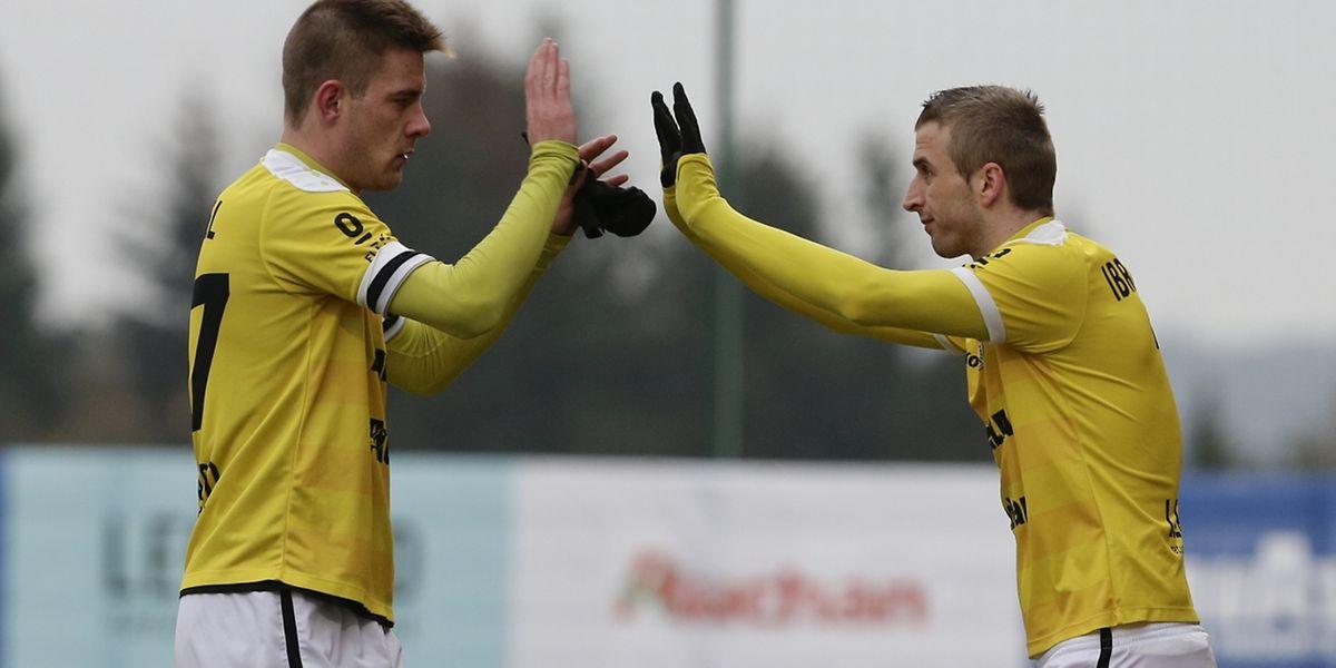 David Turpel a inscrit un but avant de céder sa place à Sanel Ibrahimovic en fin de rencontre