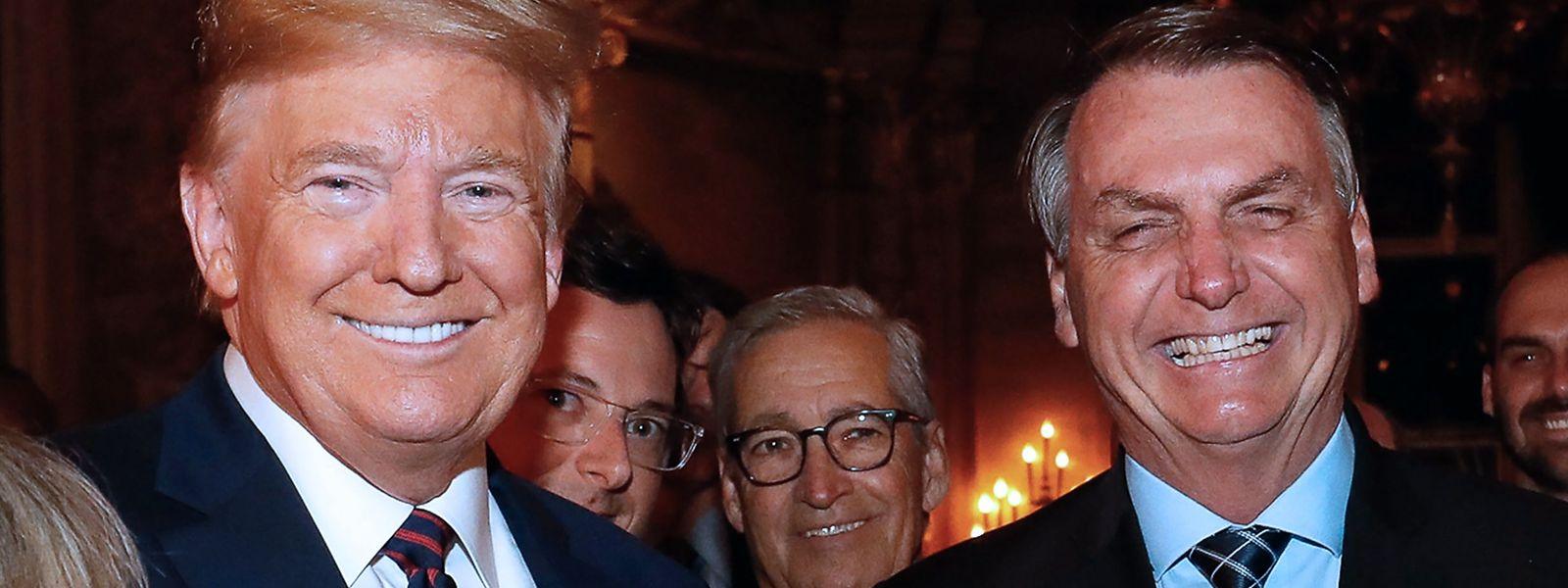 US-Präsident Donald Trump und der brasilianische Präsident Jair Bolsonaro am vergangenen Samstag.