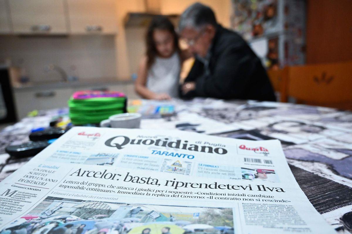 "Die Titelseite der Lokalzeitung ""Nuovo Quotidiano di Puglia""."