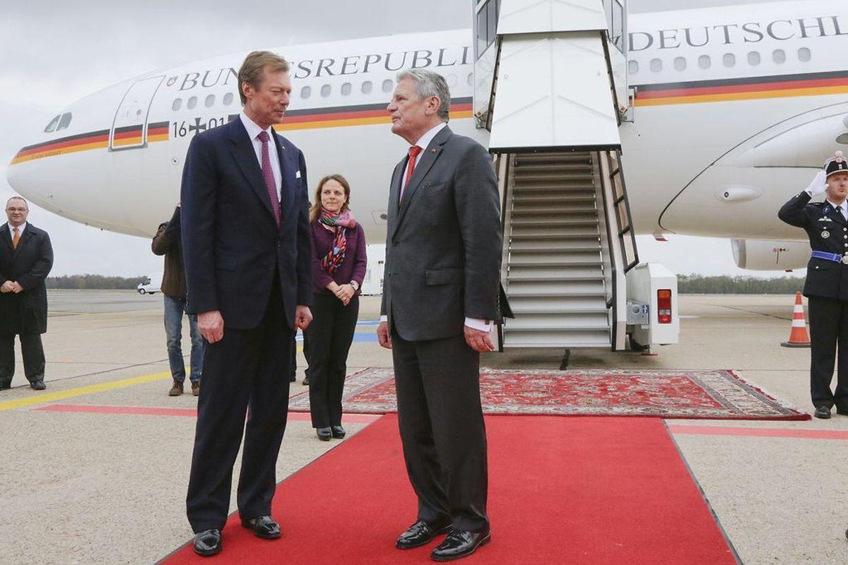 Großherzog Henri verabschiedete den Gast aus Deutschland.