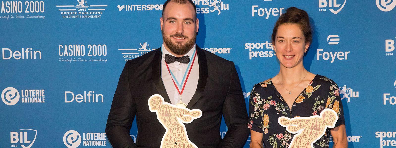Luxemburgs Sportler des Jahres 2019: Bob Bertemes und Christine Majerus.