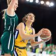 Brittney Martin (Amicale r.) gegen Samantha Cooper (Grengewald l.) / Basketball, Coupe de Luxembourg, Finale Frauen, Amicale - Grengewald / Luxemburg / 16.03.2019 / Foto: Christian Kemp