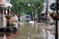 Hochwasser in Echternach, am Morgen danach / Foto: Viktor Wittal