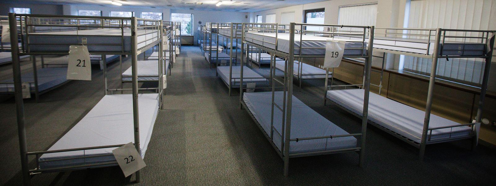 Die Betten der Wanteraktioun wurden in dieser Saison nur bedingt genutzt.