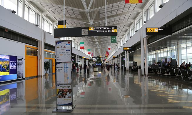Washington DC airport in the US