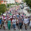 Protestaktion gegen die Umgehungsstraße von Bascharage.