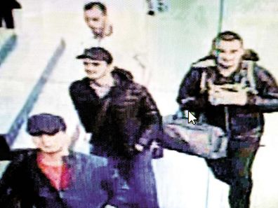 In this framegrab from CCTV video men believed to be the attackers, walk in Istanbul's Ataturk airport on June 28, 2016.