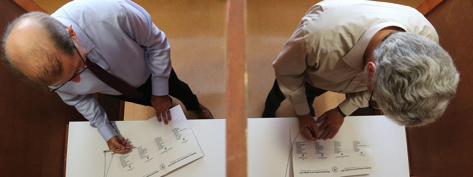 Im Wahlbüro Rümelingen.