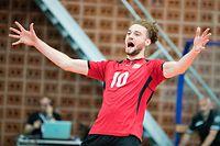Kamil Rychlicki (Luxemburg 10) / JPEE Montenegro, Volleyball, Maenner, Luxemburg - Zypern / Budva / 31.05.2019 / Foto: Christian Kemp