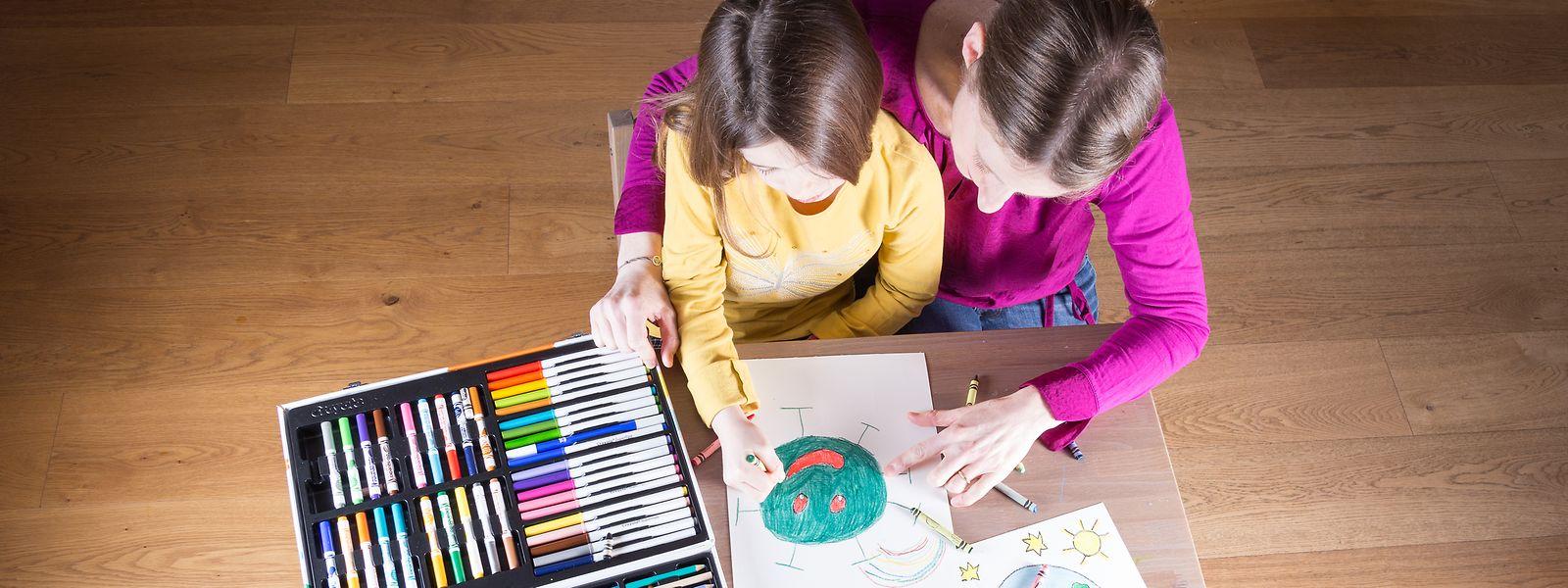 Maité s'est attelée à réaliser toutes les illustrations de son livre.