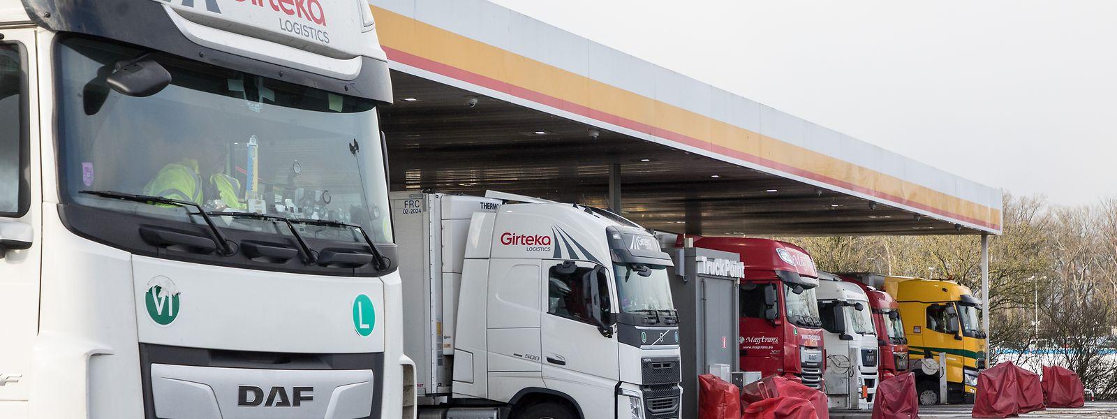 84 Prozent des an den Luxemburger Tankstellen verkauften Treibstoffs ist Diesel, der vor allem von Lastwagen getankt wird.