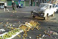 Ein Attentäter sprengte sich auf einem Markt in die Luft.