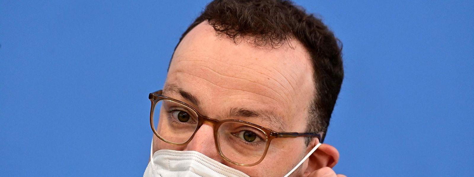 Minsitro da Saúde alemão, Jens Spahn.