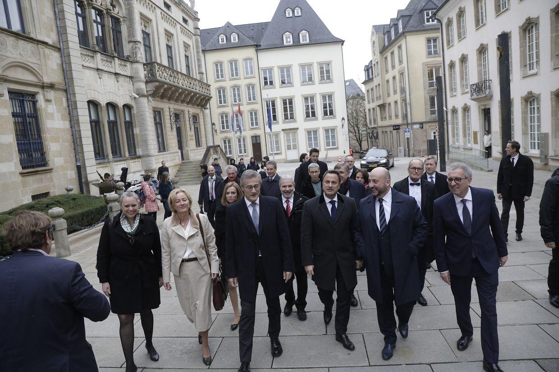 Die neuen Regierungsmitglieder wurden am Mittwoch im großherzoglichen Palast vereidigt.