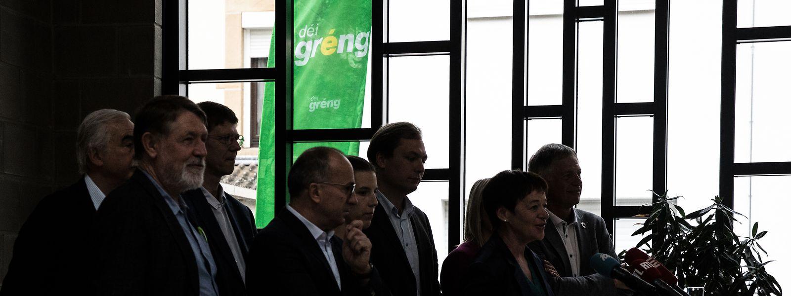 Les Verts lors de leur bilan parlementaire, début août.