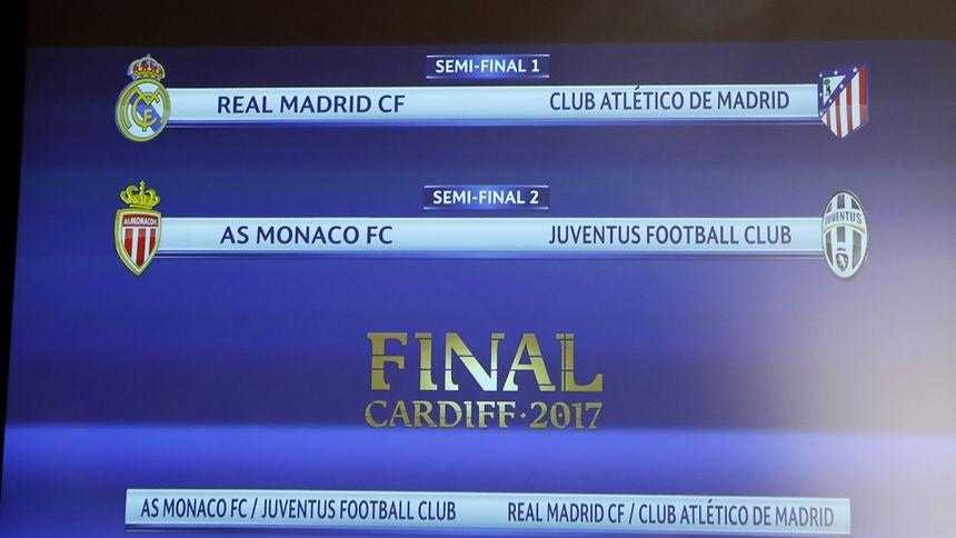 Les demi-finales de la Ligue des champions 2016-2017 réserveront un derby Real - Atletico Madrid et une affiche Monaco - Juventus Turin