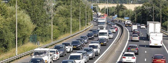 Stark belastet: Auf der A3 fahren täglich im Schnitt bis zu 67000 Fahrzeuge und auf der A6 bis zu 75000.