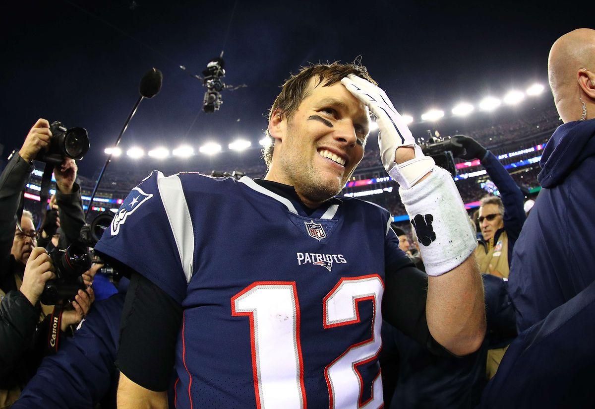 Gerade so geschafft: Tom Brady ist nach dem Finaleinzug überglücklich.