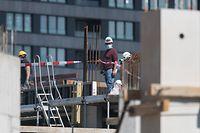 Corona-Virus, Wiedereröffnung der Baustellen, Bau, Baustellen , Ban de Gasperich, Foto: Guy Wolff/Luxemburger Wort