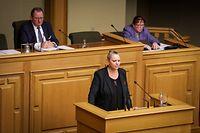 Parlamentsdebatte Baugenehmigungen Carole Dieschbourg - Foto: Pierre Matgé/Luxemburger Wort