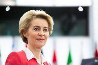 27.11.2019, Frankreich, Straßburg: Die designierte Präsidentin der Europäischen Kommission, Ursula von der Leyen (CDU), Mitglied der Fraktion EVP, hält vor der Abstimmung über ihre Kommission eine Rede vor dem Europäischen Parlament. Foto: Philipp von Ditfurth/dpa +++ dpa-Bildfunk +++