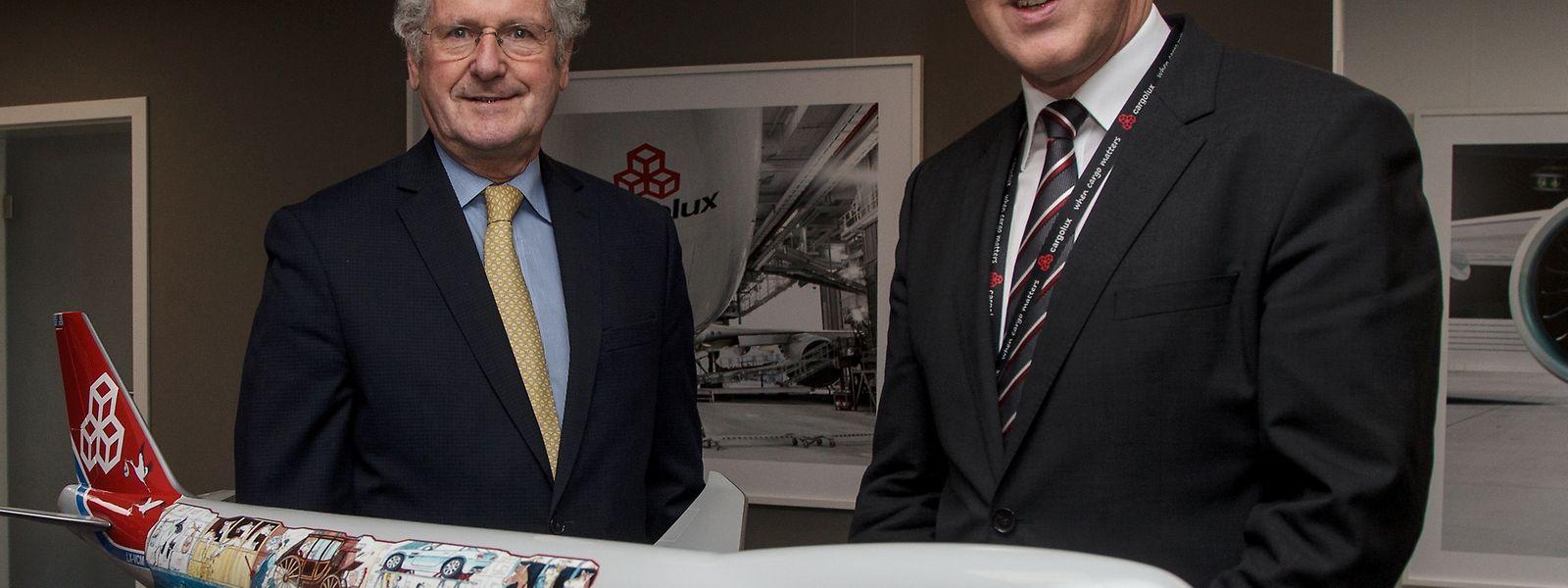 Verwaltungsratspräsident Paul Helminger und CEO Dirk Reich zeigten sich am Mittwoch sehr zufrieden mit dem vergangenen Geschäftsjahr.