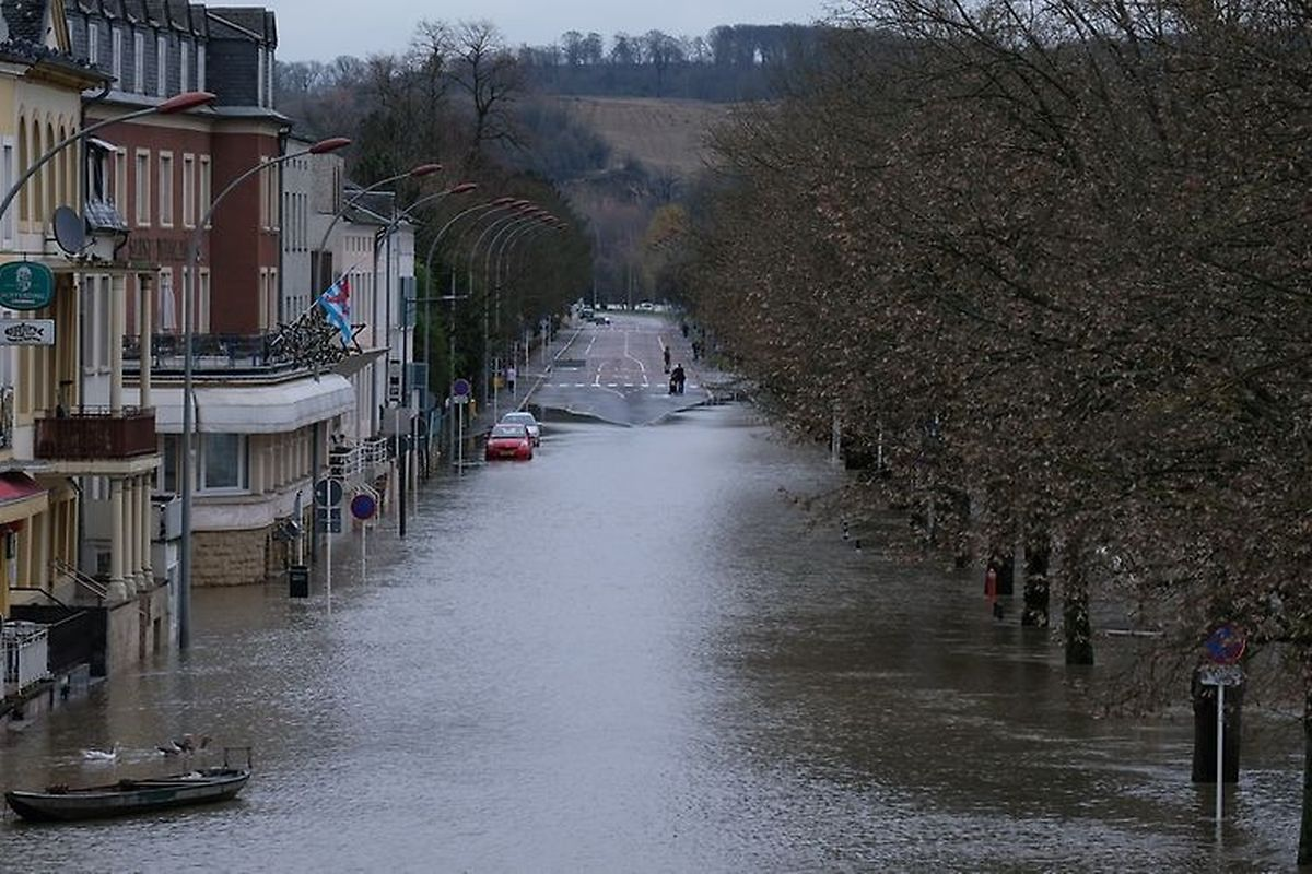 The floods in Remich on Sunday (Fern Morbach)