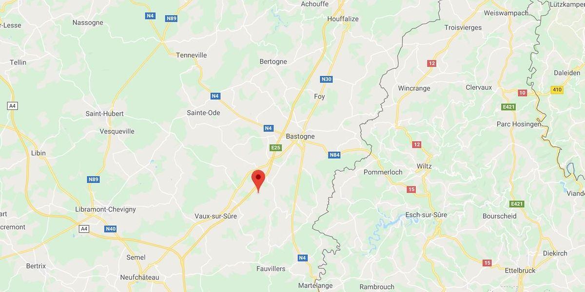 Der Unfall passierte auf der belgischen Autobahn E25 bei Bastogne.