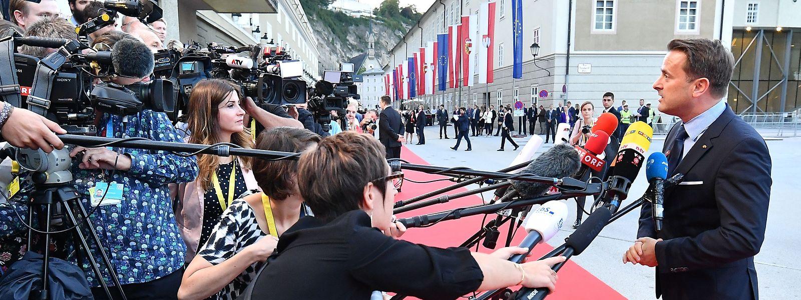 Luxemburg ist durch Premier Xavier Bettel vertreten.