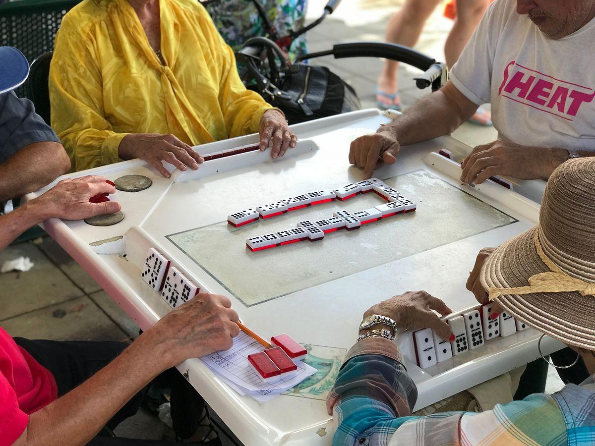 Sympathischer Abschluss der Reise: ein Besuch bei den Domino-Spielern im Stadtviertel Little Havana in Miami.