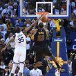 Kevin Durant contre LeBron James. Les Cavs sont tombés à Oakland.